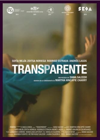 Transparente película colombiana afiche / Transparente colombian movie poster