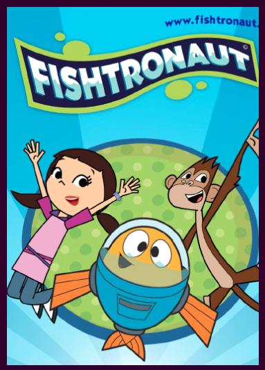 Peztronautas serie animada afiche/ Fishtronauts kids animation poster