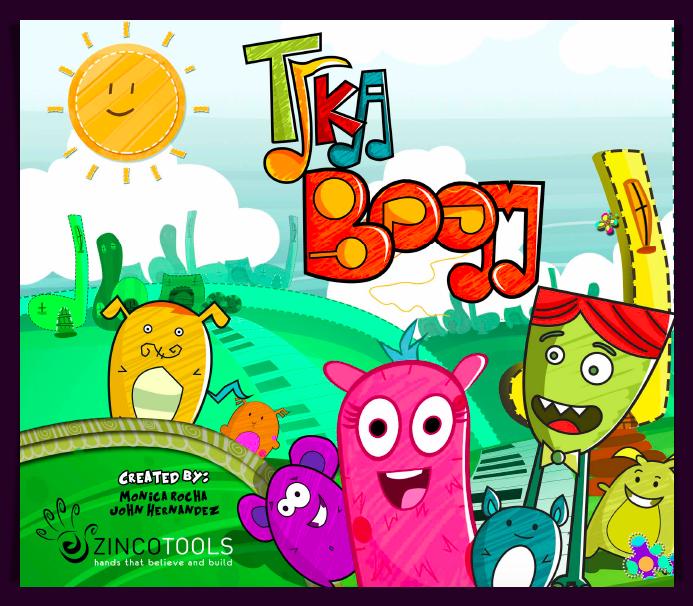 Tika Boom coproducción serie animada afiche Zincotools / Tika Boom coproduction kids animated serie poster Zincotools
