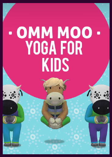 Omm Moo Yoga live action serie para niños afiche, salud y bienestar niños / Omm Moo Yoga live action kids serie poster kids wealthness and health